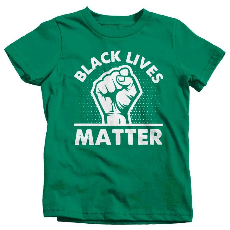 Kids Black Lives Matter Shirt BLM T Shirt Fist Awareness Shirt Human Rights BLM TShirt Equality Equal Boy/'s Girl/'s