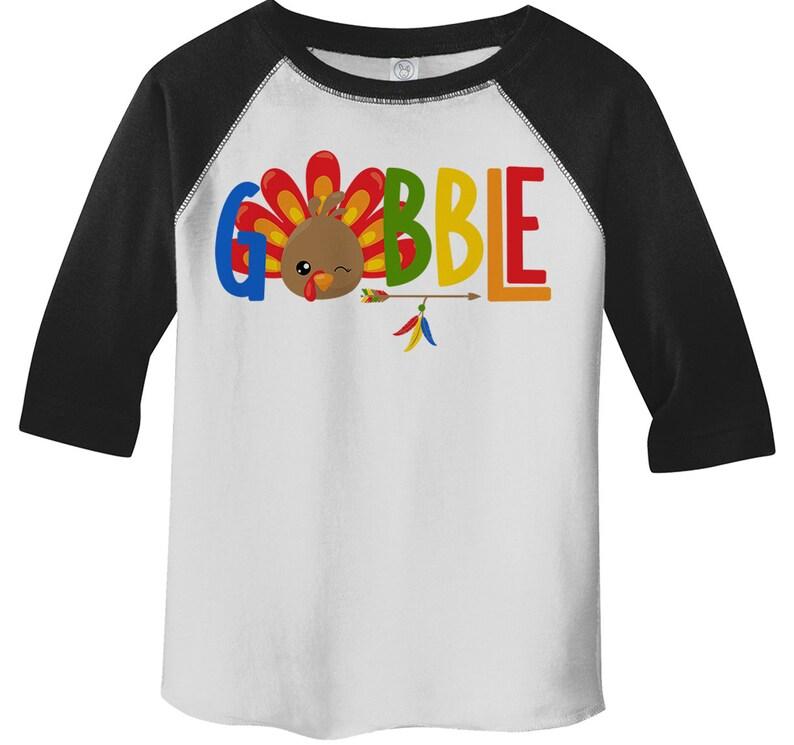 3c6c789cff Kids Gobble T Shirt Turkey Shirts Gobble Tee Arrow Feathers | Etsy