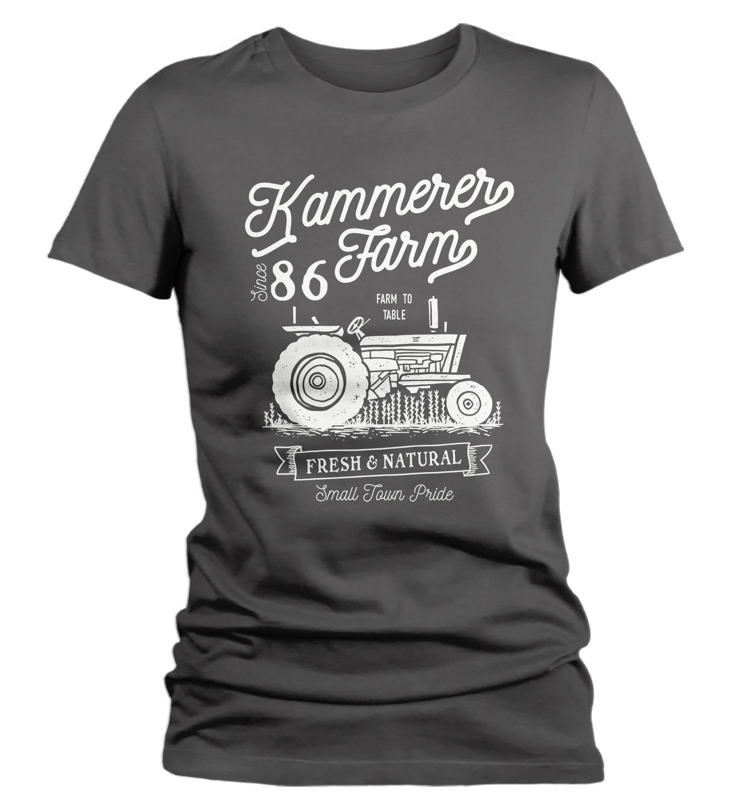 Women s Personalized Farm T-Shirt Vintage Tractor Farmer  01918c4ba