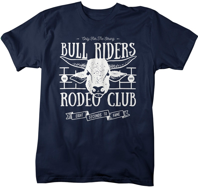 634932a6d Men's Rodeo T Shirt Bull Rider Shirts Western Graphic Tee   Etsy