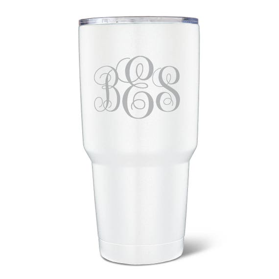 ef8c9590e53 Personalized 30 oz. Matte White Double Wall Insulated Tumbler   Etsy
