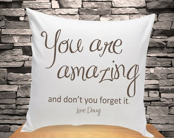 Personalized Throw Pillow - You are Amazing Personalized Throw Pillow - Home Decor Decorative Pillow -  GC1210