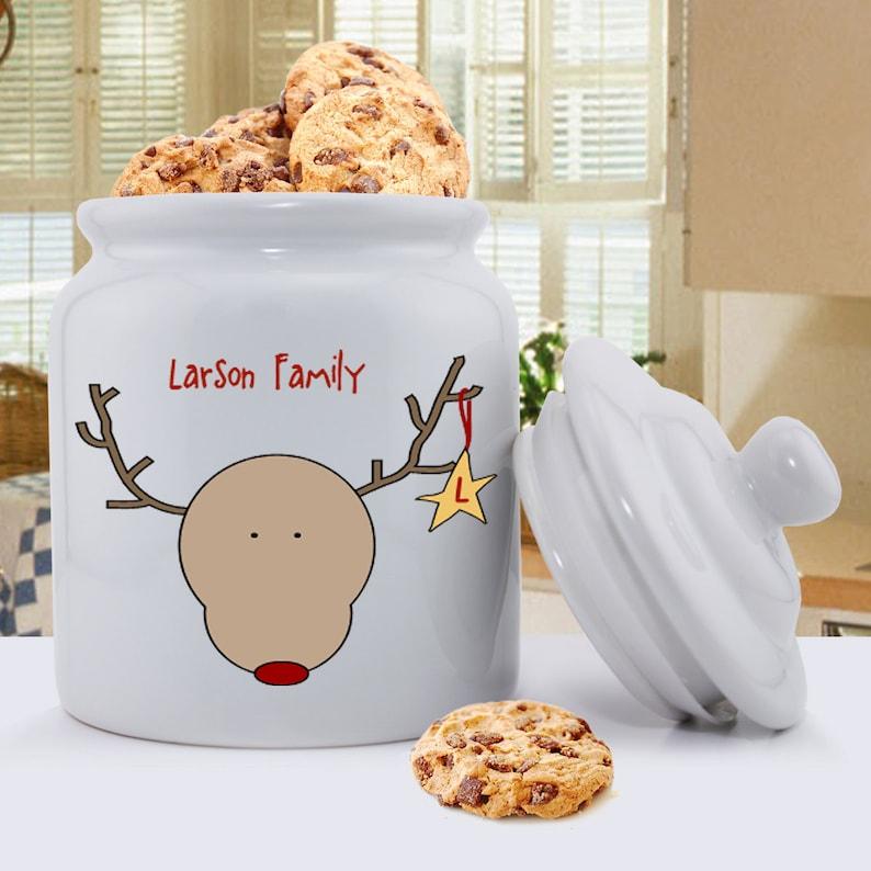 Personalized Christmas Cookie Jars Christmas Cookie Jars Etsy