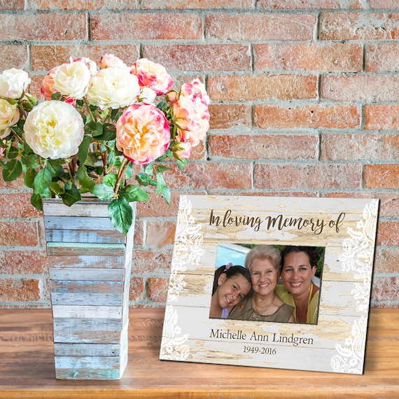 Personalized Memorial Frames Picture Frame 4x6 In Loving Etsy