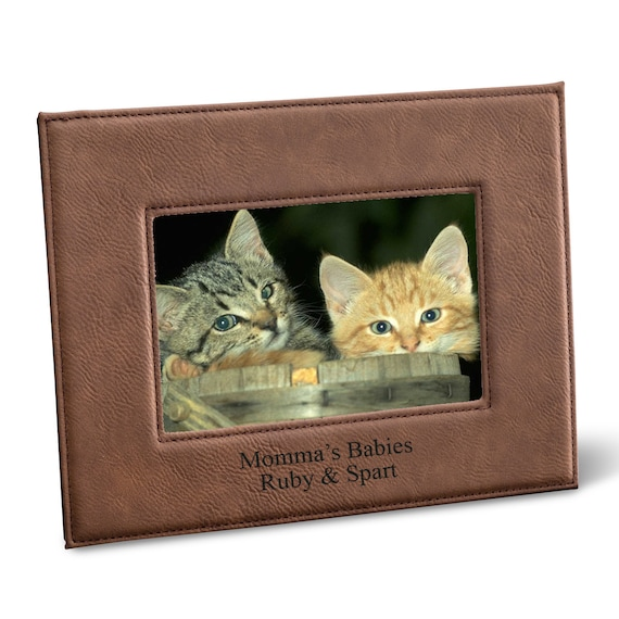 Personalized Brown 5 X 7 Picture Frame Etsy