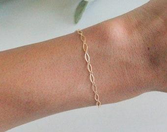 Alice bracelet, Link gold Bracelet, Gold Bracelet, Gold Link Bracelet, Link Chain Bracelet, Layered Link Chain