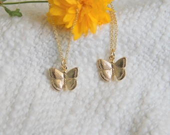 Butterfly Necklace, Butterfly Gold Necklace, 14kt Gold Filled Necklace, Necklace, Gold Necklace, Mother's Day Gift