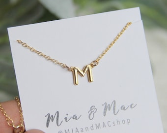 Letter Necklace • Name Necklace • Perfect for Your Minimalist Look • Initial Necklace • Personalized Initial necklace