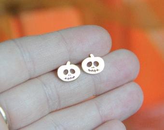 Halloween Earrings, Pumpkin Earrings