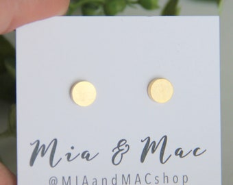 circle post earrings, Small circle Earrings , Gold circle earrings, Minimalist Gold Jewelry, Gold Earrings, Modern Jewelry