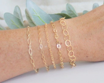 Baby Abigail bracelet, Circle Link gold Bracelet, Gold Bracelet, Gold Link Bracelet, Link Chain Bracelet, Layered Link Chain