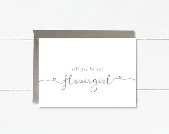 Will you be our Flowergirl card