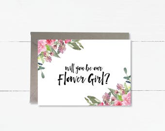 Will you be our Flower Girl? card