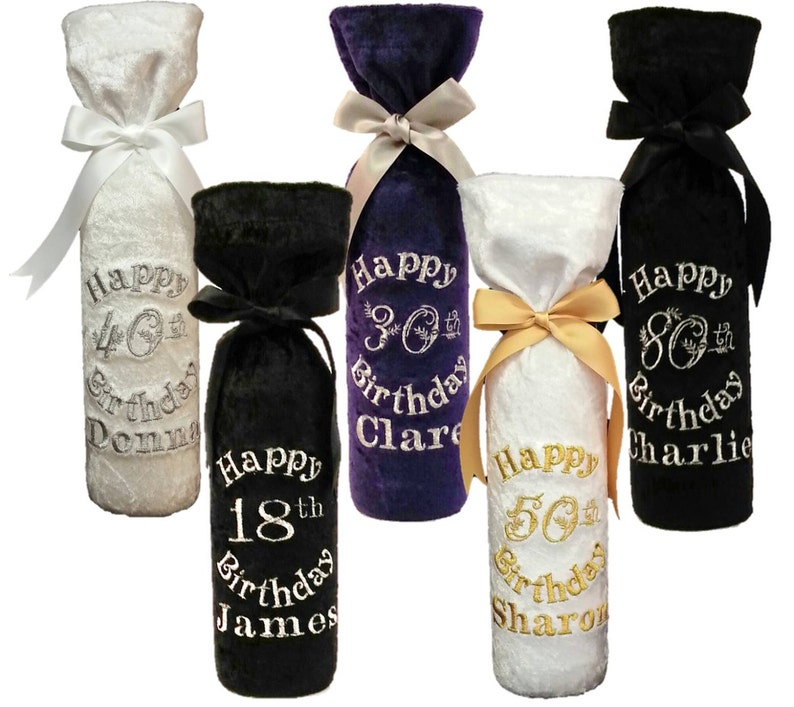 Birthday Personalised Wine Bottle Gift Bag Pefect For 18th
