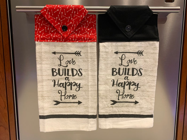 Happy Home towel Love Builds a Happy Home bath towel Love builds a Happy home towel Happy home kitchen Love towel love kitchen towel