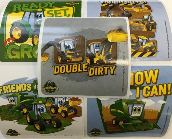25 John Deere Tractor Stickers Party Favors Envelope Etsy