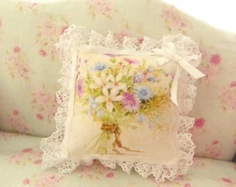 dollhouse  shabby chic miniatures pillows