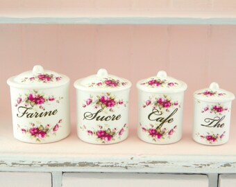 dollhouse miniature floral canister