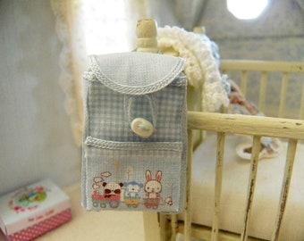 dollhouse miniature kindergarten backpack