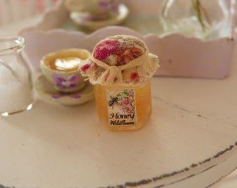 dollhouse miniature honey jar