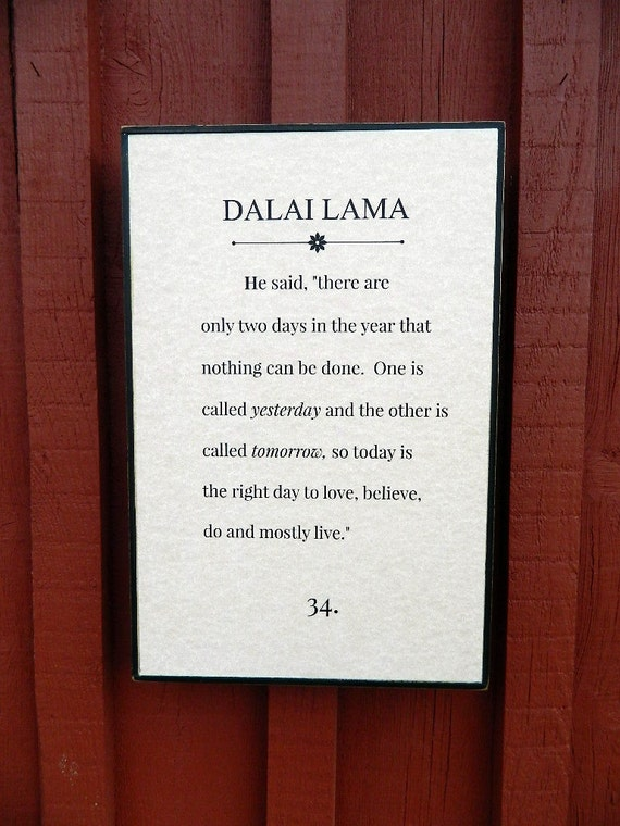 Dalai Lama Quote Love Poem Handmade Wood Sign Vintage Etsy