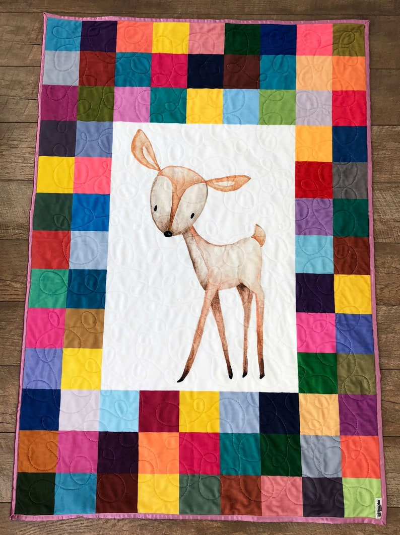 READY TO SHIP: Woodland Quilt Woodland Baby Quilt Deer Baby image 0