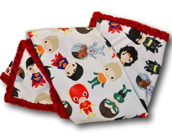 Superhero Baby Blanket * Superhero Nursery * Superhero Baby Quilt * Superhero Quilt * Superhero Baby * Batman Superman Wonder Woman Baby