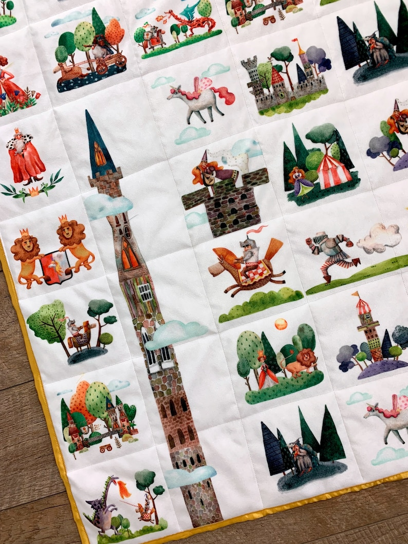 Woodland Fairy Tale Enchanted Forest Baby Quilt Woodland image 0