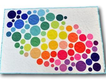 Rainbow Baby Gift, Modern Baby Quilt, Rainbow Baby Blanket, Personalized Baby Blanket, Personalized Baby Gift, Rainbow Nursery Decor, Pride