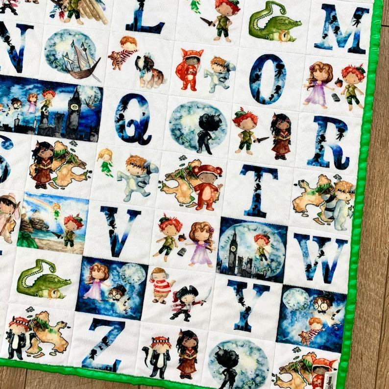 Peter Pan Baby Quilt Gift Peter Pan Nursery Theme Tinkerbell image 0