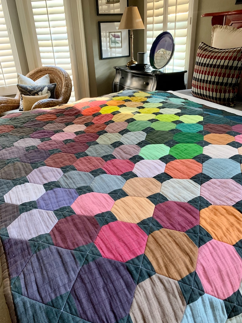 READY TO SHIP: Modern Madras Quilt image 0