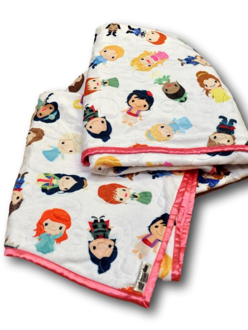 Princess Quilt  Princess Blanket  Princess Nursery  image 0