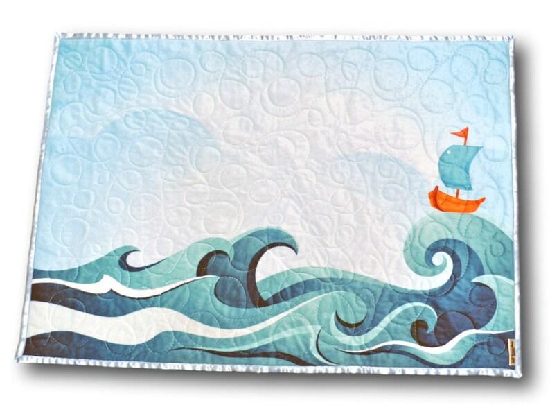 Nautical Baby Quilt Nautical Nursery Nautical Baby Gift image 0