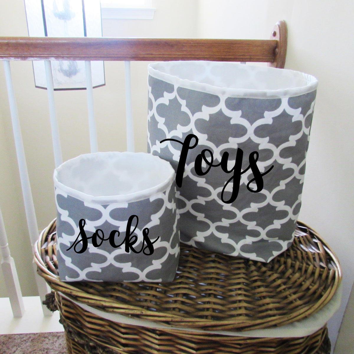 bac de rangement tissu stockage organisateur panier de etsy. Black Bedroom Furniture Sets. Home Design Ideas
