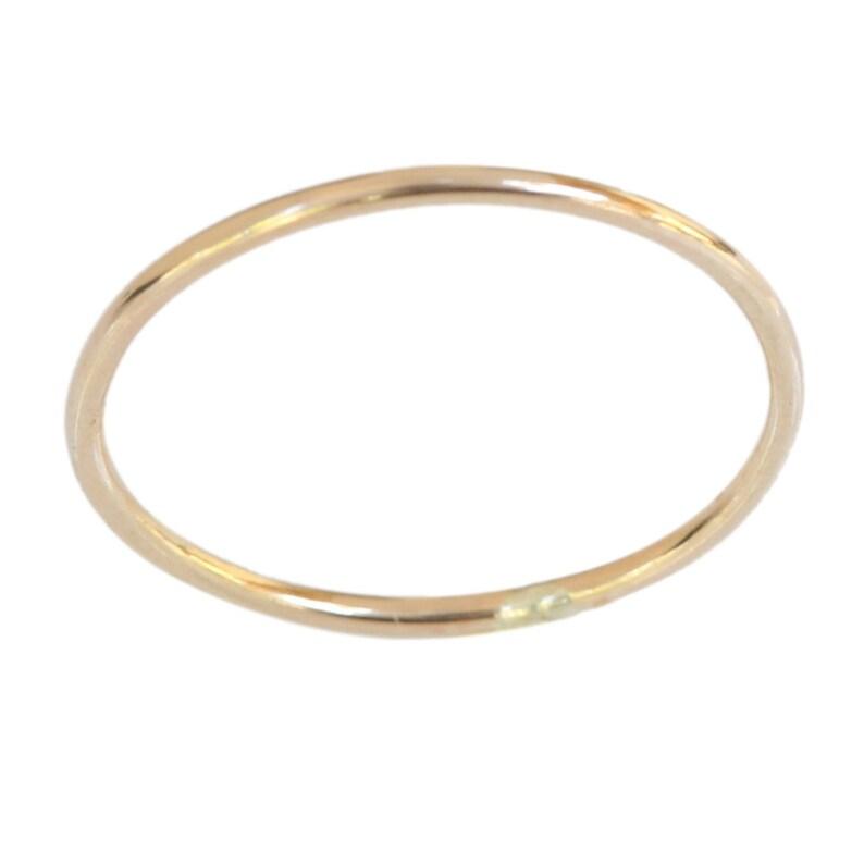 14k gold 1mm thin plain toe ring ring above the knuckle ring midi ring a\u00f1illo para los dedos de los pies talla size 2.5
