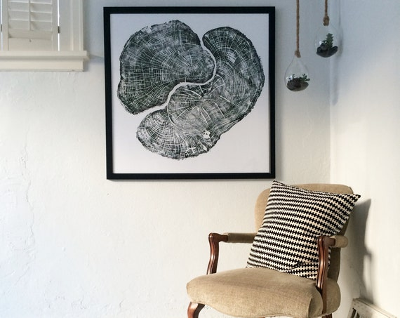 Large Tree Ring Art, Pennsylvania Maple, maple tree ring art, sugar maple art, Oversized wall art, anniversary gifts, tree wall art