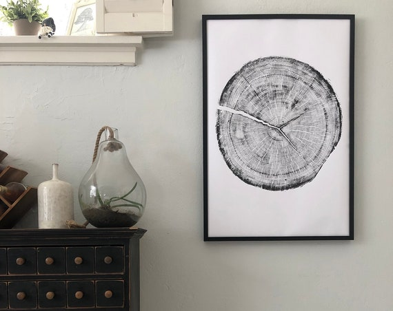 Tree ring art print, Snowbird Ski Resort, Ski resort art, Tree rings, Tree art, Wood cut, Hand made print by Erik Linton, 24x36 inches