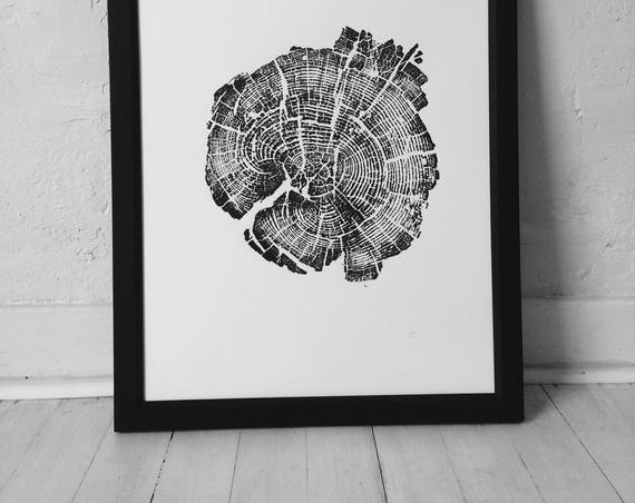 Yellowstone Park, Real tree ring art, Woodcut art, Dendrology art, wood grain art, Father's Day Gifts, Best Dad Gifts, Gifts for dads