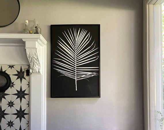 Palm Leaf Print, Majesty Palm, Palm Leaves print, Palm Tree art, Palm Frond, Palm frond art, Tropical art print 24x36
