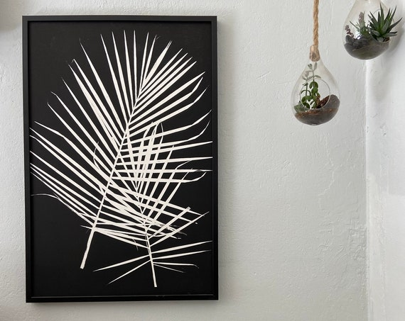 Palm Frond Print, Majesty Palm, Palm Leaves print, Palm Tree art, Palm Frond, Palm frond art, Tropical art print 24x36