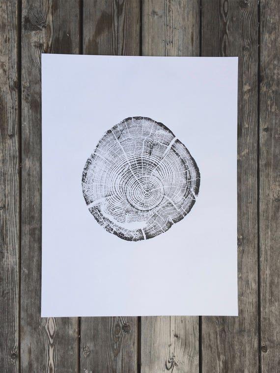 Montana Tree, Flathead Lake, Montana, Driftwood, tree stump, Montana print, forest art print, natural textures, natural patterns, LintonArt