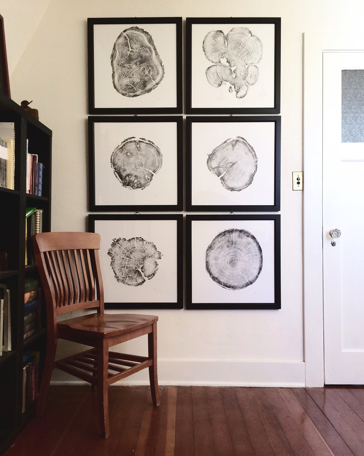 Large Wall Art Set Framed Set Of 6 Tree Ring Prints Real Tree Ring Print Gallery Quality Frames Christmas Art Gifts Large Wall Art Set