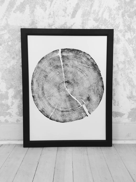 Rock Canyon Pine, Tree stump Print, Woodcut print, tree ring art print, Father's Day Gifts, Best dad Gifts, Dad gifts, mom gifts