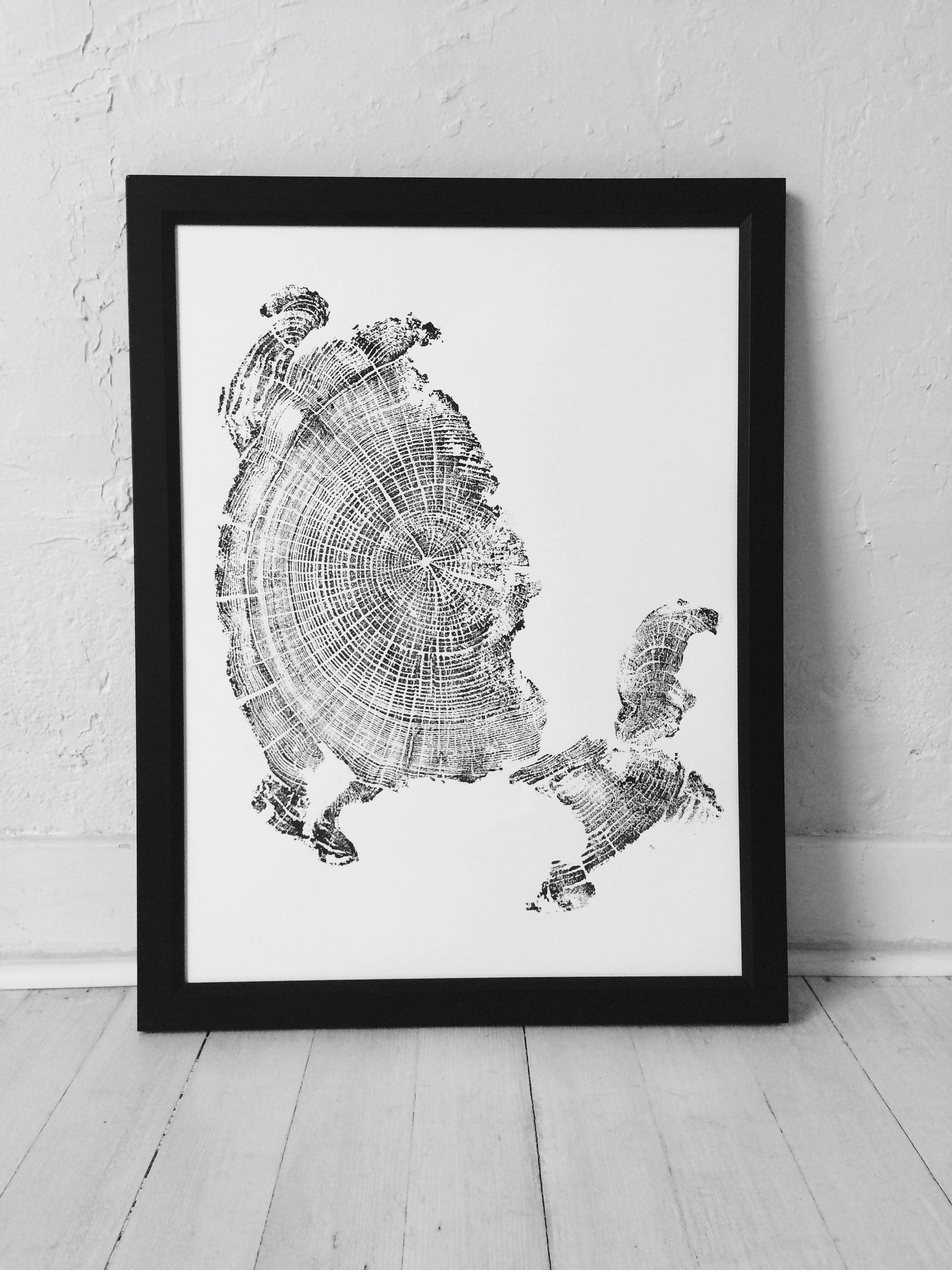 Cannon Beach Art Driftwood Wall Woodcut Print Oregon Coast Tree Ring Fathers Day Gift