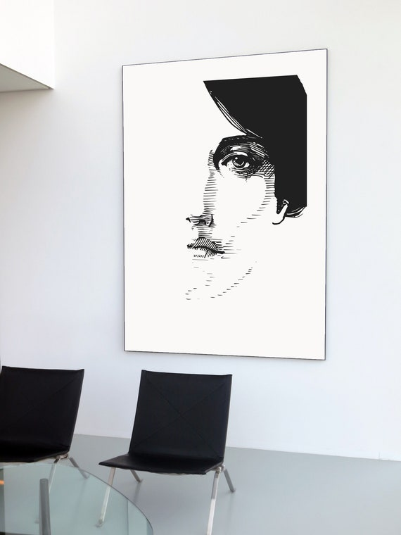 Etching of Female Face, Modern fashion art, line drawing, portrait fashion art, Fornasetti Face
