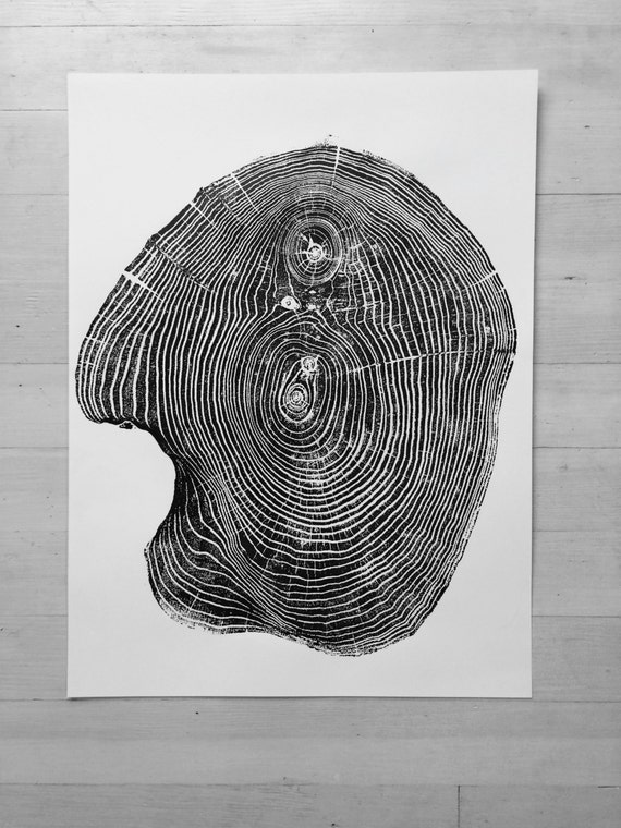 Mulberry Tree ring Print, Tree ring art print, Woodcut, real tree rings, Woodcut print, Tree Lover art, Manly gifts, Christmas art gifts