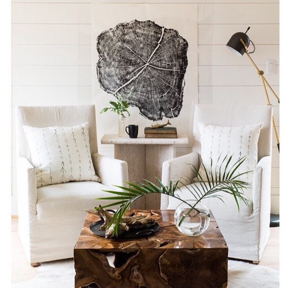 Huge tree ring art, Oversized Wall Art, Huge Locust tree ring print, Tree Ring Art Print, Woodcut art, hand pressed print, 36x48, Linton Art