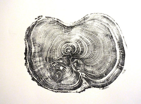 Tree stump art, Albion Basin UT, Fathers Day Ideas, father's day, tree ring gift, Handmade Print, wood grain art, woodcut art, Dad mom gift