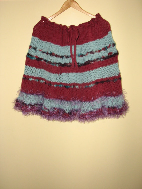 Hanmade Knitted Skirt / Poncho