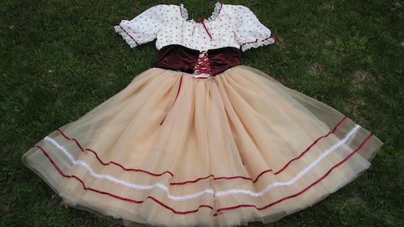 Vintage German Style Folk dress - Renaissance Fair